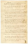 1838: Message from Governor, Number One: List of Acts