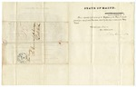 1839 March 25: John Fairfield, Governor, Augusta, Maine, to the Governor of Arkansas, Resolutions passed by the Maine Legislature relating to the public domain