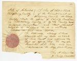 1839 December 3: Ira A. Sabin, Clerk of Circuit Court of Hot Spring County, Clerk's certificate of vacancy in the office of County Treasurer