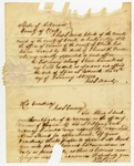 1840 January 18: James S. Ward, Clerk of Clark County, to Governor James S. Conway, Notification of vacancy in office of Coroner in Clark County