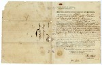 1840 June 5: John Hutt for the Bank of the State of Arkansas, Public instrument of Protest for non-payment of note by Wood Tucker, et al.