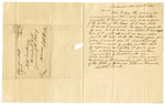 1841 March 31: William Harrick, Clarendon, to Governor Archibald Yell, Requesting copy of his commission as Justice of the Peace