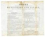 1845 September 29: Huntington and Savage, New York, to Elias N. Conway, Auditor, Price list of books for sale