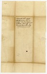 1846 March 10: Sheriff and Clerk of Hempstead County to E.N. Conway, From statement of land sold (envelope only)