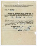 1848 January 15: Elbert W. Fletcher to the Real Estate Bank of the State of Arkansas, Bond