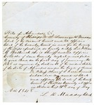 1848 May 31: Lorenzo D. Maddox, Circuit Court of Phillips County, Certification that William M. Bestick failed to pay required bond to be sheriff