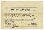1848 November 1: J.M. Halbert, Sheriff of St. Francis County, Certificate of purchase of land by J.N. Browning