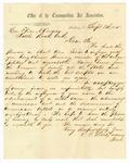 1855 September 8: C.L. Derby, Sandusky, Ohio, to Elias N. Conway, Offering honorary membership in the Cosmopolitan Art Association of Sandusky