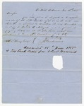 1855 November 12: J.G. Quertermous, DeWitt, Arkansas, to A.S. Huey, Concerning land subject to donation