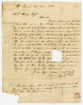 1856 June 2: James L. Totten, St. Charles, Arkansas, to A.S. Huey, Auditor, Concerning sale of public land