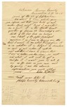 1857 November 5: Silas K. Waits, Edwardsburg, Arkansas, to Auditor of Arkansas, About land subject to donation