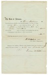 1858 December 22: O.H. Oats, Speaker of the House of Representatives, to Lewis Williams, Voucher for payment for Williams' service in Arkansas General Assembly