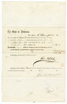 1858 December 23: O.H. Oats, Speaker of the House of Representatives, to John R. Hampton, Voucher for payment for Hampton's service in Arkansas General Assembly