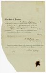 1858 December 23: O.H. Oats, Speaker of the House of Representatives, to Miles Jeffery, Voucher for payment for Jeffery's service in Arkansas General Assembly