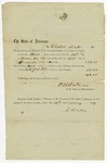 1859 January 19: O.H. Oats, Speaker of the House of Representatives, to Elisha Baxter, Voucher for payment for Baxter's service in Arkansas General Assembly