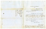 1859 May 27: F.L. Villepigue, Secretary of State, Tallahassee, Florida, to the Governor of Arkansas, Letter accompanying Journals and Acts of the Florida legislature