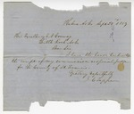 1859 September 28: J.C. Tappan, Helena, to Governor E.N. Conway, Acknowledging commission as special judge for St. Francis County