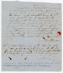 1850s October 27: J.M. Bowden, Searcy, Arkansas, to Auditor of State, Inquiry about a quarter section of land