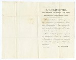 1860 January: R.C. Slaughter, Columbia, Arkansas, to E.N. Conway, Offering services as land agent and civil engineer