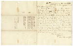 1863 January 24: A.J. Ward, Arkansas Penitentiary, Little Rock, to Governor H. Flanagin, Recommending pardon of Martin M. Russell, inmate serving time for murder from Sevier County