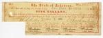 1861 December 26: Arkansas War Bond #72198 of Colonel Thomas Dockery, $5
