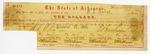 1861 December 12: Arkansas War Bond #80599 of B.T. Duval, $10