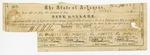 1861 January 17: Arkansas War Bond #74228 for B.T. Duval, $5