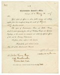 1867 May 30: Charles Thomas, Quartermaster General's Office, Washington, District of Columbia, to Brevet Colonel Henry Page, Little Rock, Acknowledging receipt of report sent
