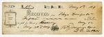 1869 May 1: R.G. Jennings to Keys Danforth, Little Rock, Receipt for $15 for rent of armory