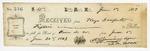 1869 June 1: R.G. Jennings to Keys Danforth, Little Rock, Receipt for $15 for rent of room number 20