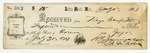 1869 July 1: R.G. Jennings to Keys Danforth, Little Rock, Receipt for $15 for rent of armory