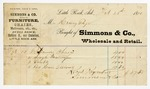 1870 February 28: Simmons and Company, Little Rock, to Henry Page, Invoice
