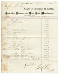 1870 March 1: George H. Gibbs, Little Rock, to Colonel H. Page, Invoice