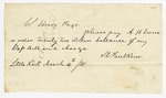 1870 March 14: S.C. Faulkner to A.H. Sevier, by Colonel Henry Page, Bill of exchange