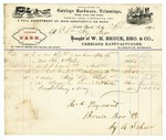 1870 April 1: W.H. Bruce, Brother and Company, Little Rock, to Colonel Henry Page, Invoice
