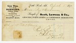 1870 April 1: Scott, Lawson, and Company, Little Rock, to Messrs. Page and Buchanan, Invoice
