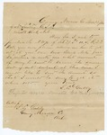 1876 November 19: S.L. Gulley, Caney, Arkansas, to J.N. Smithee, Little Rock, Inquiry about forfeited land