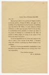 1888 February 2: Broadside, W.S. Dunlap, Little Rock, Deputy Auditor, Announcing candidacy for office of Auditor of State