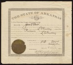 1896 November 23: Governor James P. Clarke to L.C. Gulley, Commission as Notary Public for Pulaski County