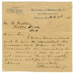 1898 March 2: S. Brundidge, Jr., Washington, District of Columbia, to C. Gulley, Letter accompanying