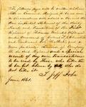 Thomas Jefferson Jobe diary, 1861