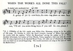 """Folk song, """"When the Work's All Done this Fall"""" by John Lomax and Alan Lomax"""