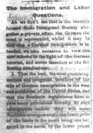 """The Immigration and Labor Questions,"" Morning Republican, July 9, 1868"