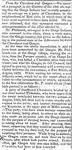 """From the Cherokees and Osages"" Arkansas Gazette, September 16, 1823"