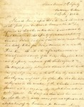 Letter from A. Arbuckle to Cantonment Gibson