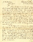 Letter from James Barbour to Governor Izard