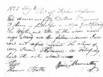 Slave bill of sale for Mary, sold by Stephen Hightower