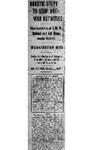 """Drastic Steps to Stop Anti-War Activities,"" Arkansas Gazette, September 6, 1917"