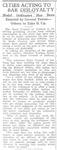 """""""Cities Acting to Bar Disloyalty,"""" Arkansas Democrat, April 26, 1918"""