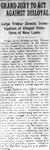 """Grand Jury to Act Against Disloyal,"" Arkansas Gazette, October 17, 1917"